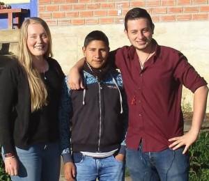 Kathi, Olegario und Daniel in Chachapoyas