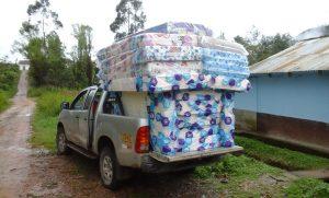 Matratzen für das Internat in Colcamar