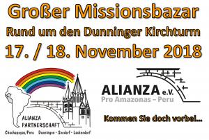 Herzliche Einladung zum Grossen Missionsbazar