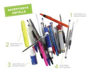 Diese Stifte sind erlaubt