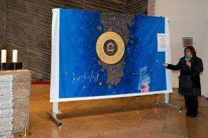 Das Misereor-Hungertuch präsentiert von Isolde Hafner-Berg