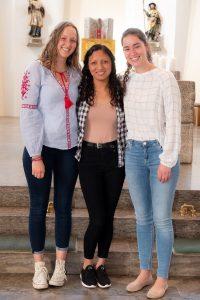 Anna Leupold, Faviola Merino Cubas, Anna Born (von links)