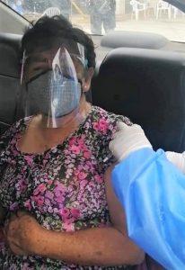 Impfung im Taxi: In den Städten Perus ist es möglich.